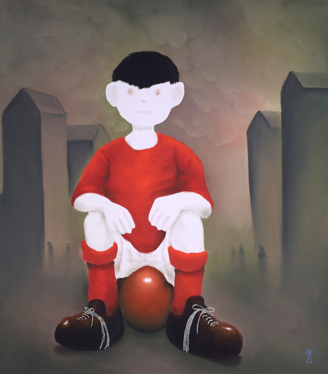 Boy with a Dream by mackenzie thorpe -  sized 28x32 inches. Available from Whitewall Galleries